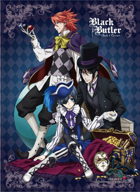 Black Butler B.O.C. - Ciel, Sebastian, And Joker High End Wall Scroll