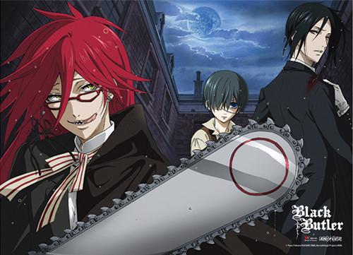 Black Butler - Sebastian With Ciel  Vs Grell Wall Scroll
