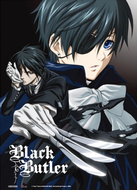 Black Butler - Sebastian And Ciel Battle Ready Key Art Wall Scroll