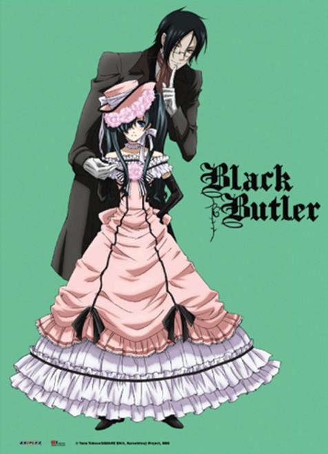 Black Butler - Sebastian And Cross Dressing Ciel Wall Scroll