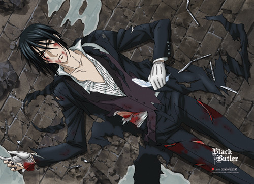 Black Butler - Injured Sebastian Wall Scroll