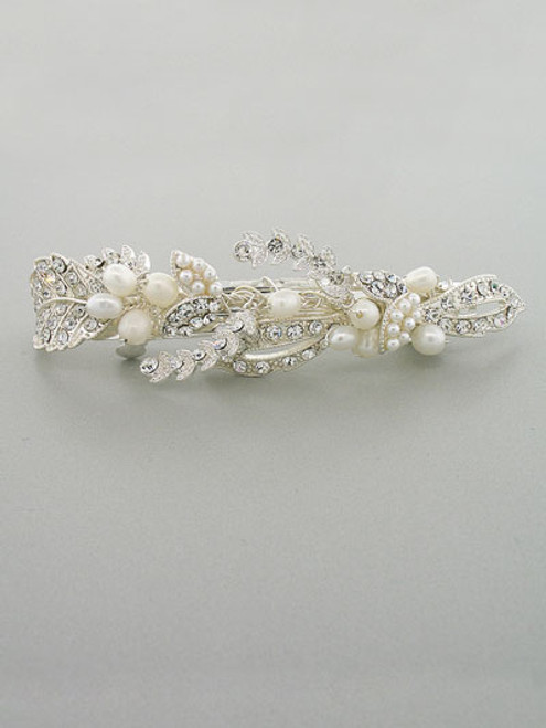Freshwater pearls Leaf design Hair Clip