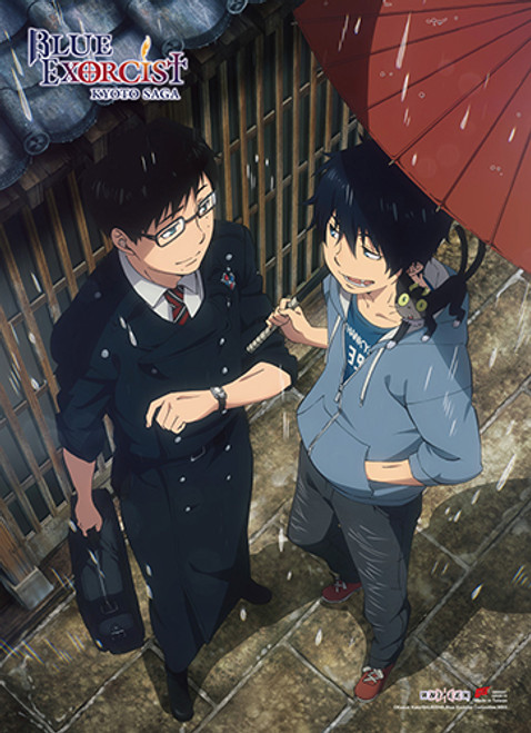 Blue Exorcist - Rin And Yukio In The Rain Wall Scroll