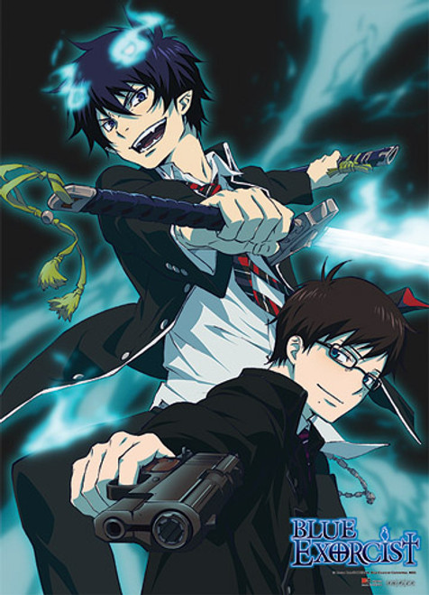 Blue Exorcist - Rin And Yukio Fighting Pose Wall Scroll