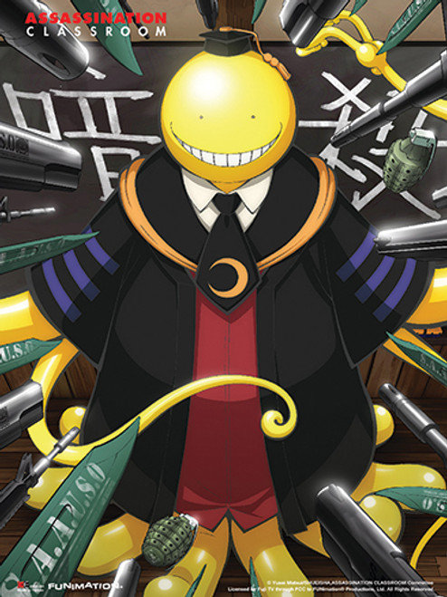 Assassination Classroom - Korosensei With Weapons Pointed At Him Key Art Wall Scroll