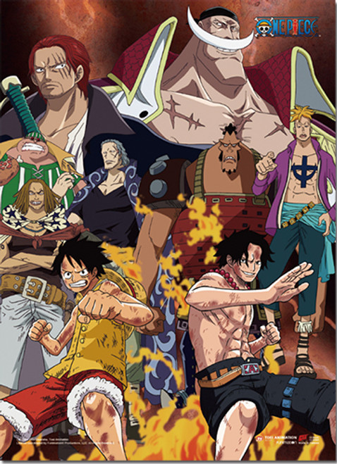 One Piece Ace and WhiteBeard at Marineford Wall Scroll - Stella's Belle
