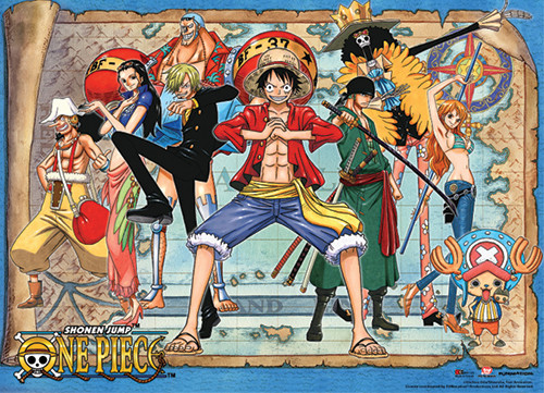 One Piece Straw Hat Pirates Ready to Fight Wall Scroll