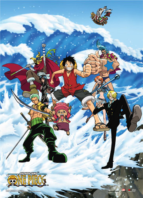 One Piece Straw Hats During Water 7 Arc Wall Scroll