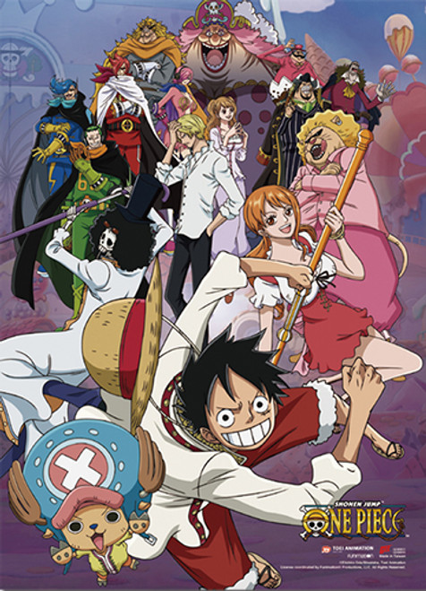 One Piece Straw Hat Pirates During Whole Cake Island Arc Wall Scroll