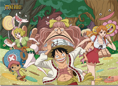 One Piece Straw Hat's in the Seducing Forest Wall Scroll