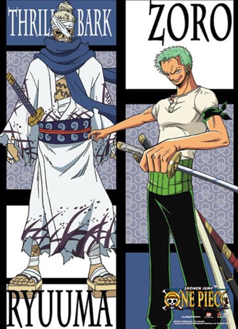One Piece Zoro Vs  Ryuma Druing The Thriller Bark Arc Wall Scroll
