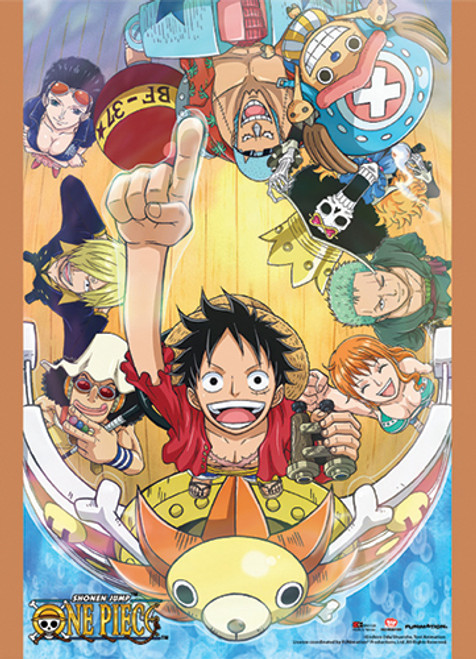 One Piece Straw Hats On Board The Thousand Sunny Wall Scroll