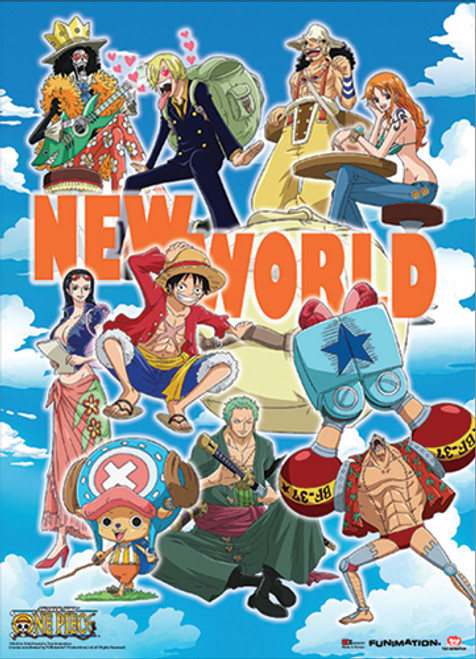 One Piece Straw Hat Pirates Going To The New World Wall Scroll