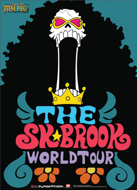 One Piece Brook Soul King World Tour Wall Scroll