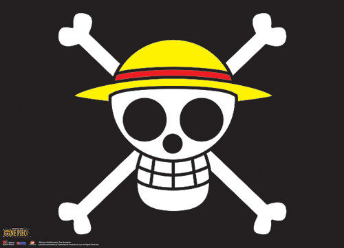 One Piece Straw Hat Pirates Jolly Roger Wall Scroll