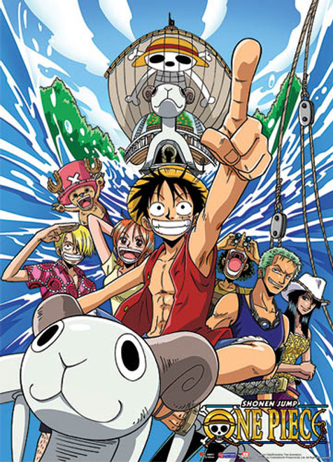 One Piece Straw Hat Pirates on The Going Mary Wall Scroll