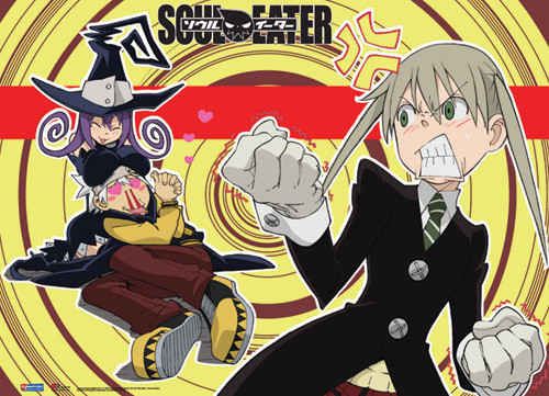 Soul Eater Maka Angry at Soul Wall Scroll