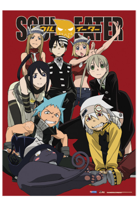 Soul Eater Main Characters Relaxed Wall Scroll