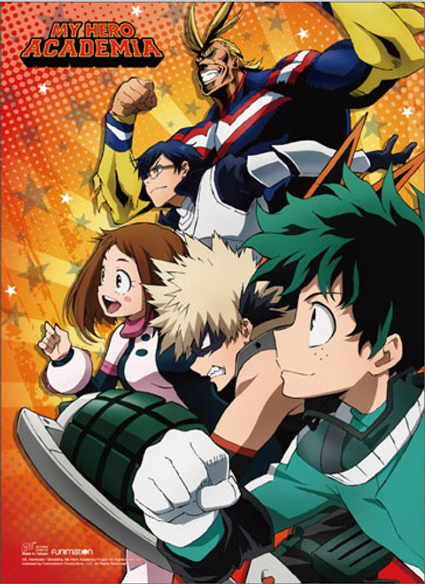 My Hero Academia - Class 1-A Leaders With All Might Wall Scroll