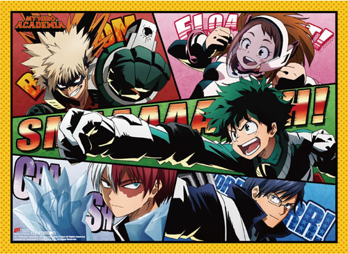 My Hero Academia - Class 1-A Using There Quirks Wall Scroll