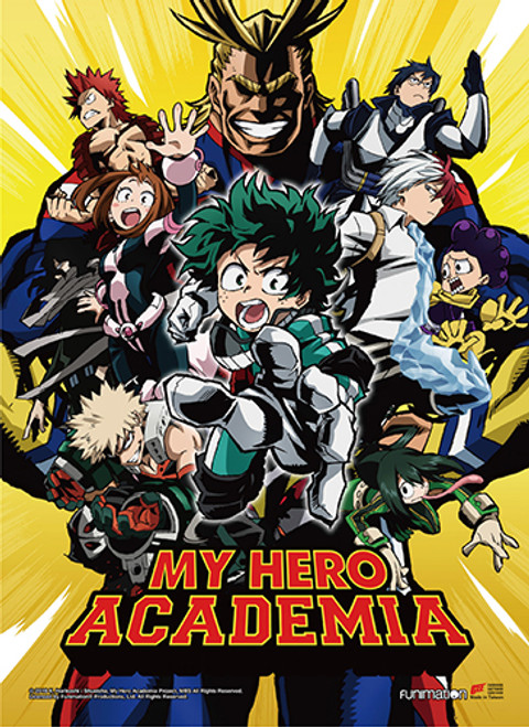 My Hero Academia - Class 1-A With All Might Battle Trial Arc Key Art Wall Scroll