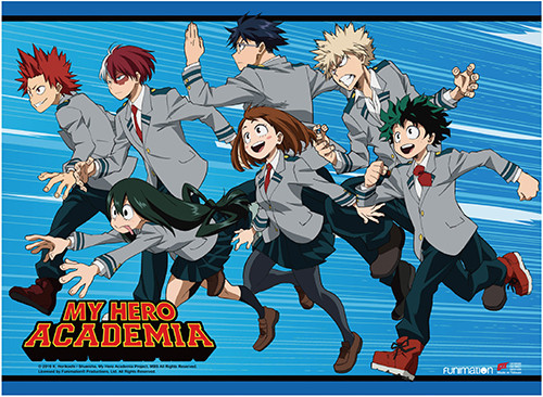 My Hero Academia - Class 1-A Running Forward Key Art Wall Scroll