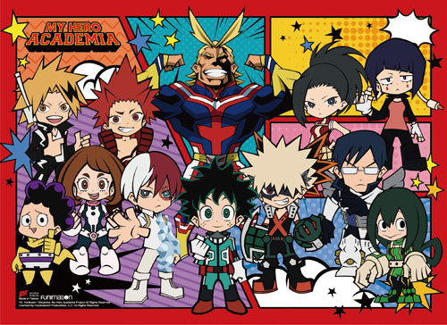 My Hero Academia - Class 1-A In Chibi Form Wall Scroll