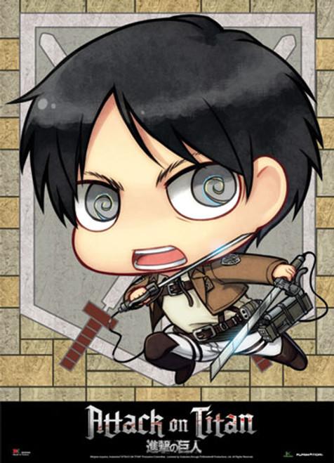 Attack On Titan - Chibi Eren Wall Scroll