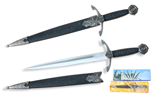 "Black Prince Dagger with Celtic Designs 13.5"" Overall"