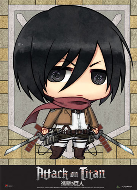 Attack On Titan - Chibi Mikasa Wall Scroll
