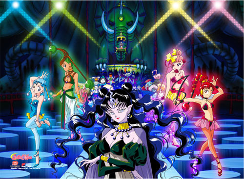 Sailor Moon Dead Moon Circus Villain Group Wall Scroll