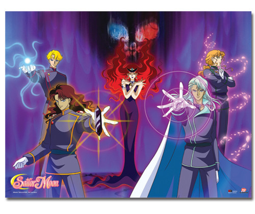 Sailor Moon Queen Beryl's Group Wall Scroll