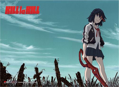 Kill La Kill Ryuko Wielding Scissor Blade Wall Scroll