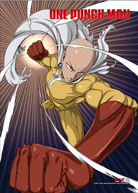 One Punch Man Saitama Fighting Pose High End Wall Scroll