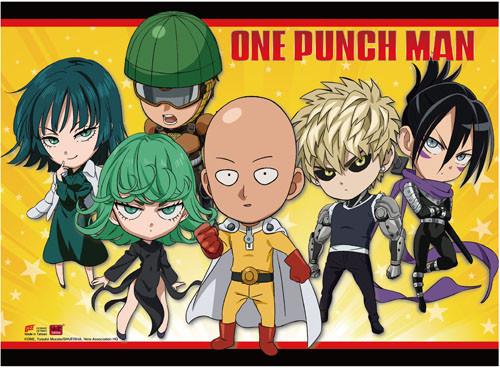 One Punch Man Chibi Hero's Wall Scroll