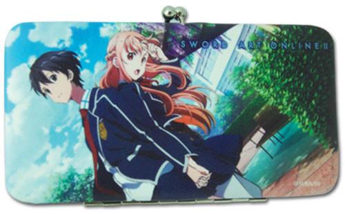 Sword Art Online II Kirito, and Asuna in School Uniforms Wallet