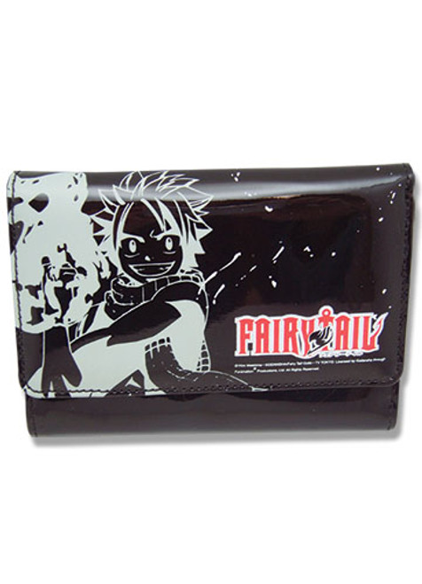Fairy Tail Natsu Black and White Female Wallet