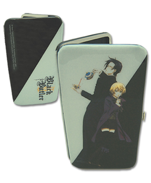 Black Butler Claude, and Alois with Black Background Hinge Wallet