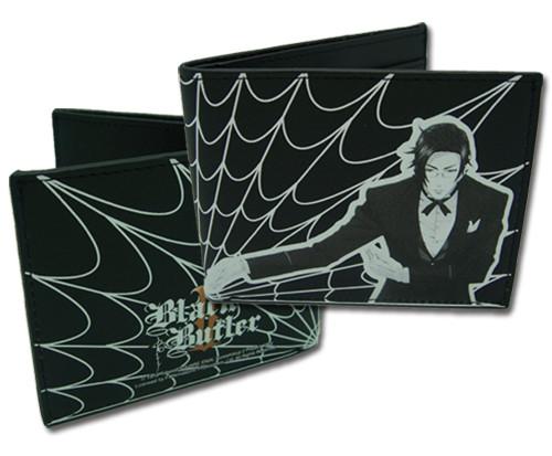 Black Butler Claude with Webs Bi Fold Wallet