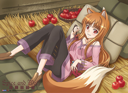 Spice and Wolf Holo Wall Scroll
