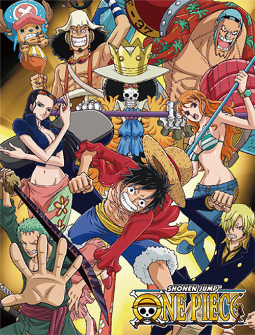 One Piece Straw Hats After Time Skip Throw Blanket