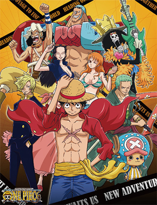 One Piece Straw Hats After Time Skip Happy Throw Blanket