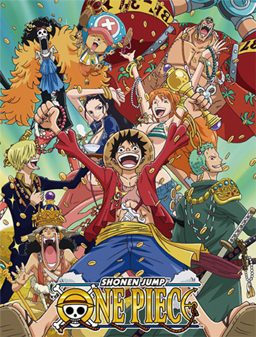 One Piece Straw Hats After Time Skip With Money Throw Blanket