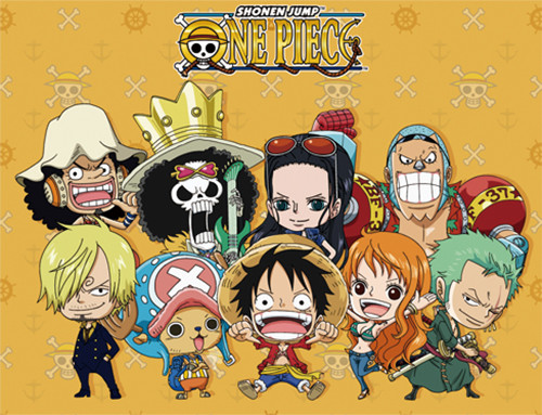 One Piece Chibi Straw Hats After Time Skip Throw Blanket