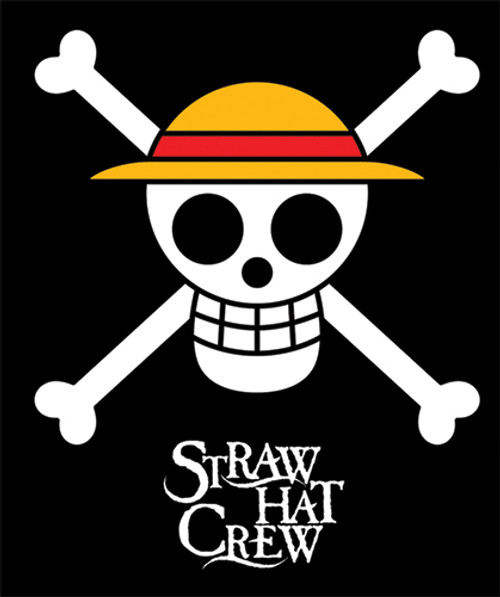 One Piece Straw Hats Jolly Roger Throw Blanket