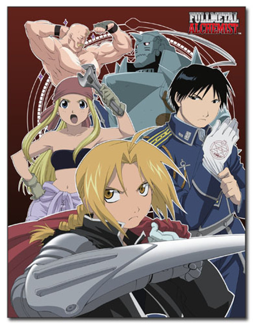 FullMetal Alchemist Main Characters Throw Blanket