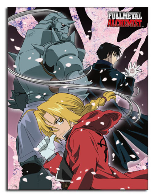 FullMetal Alchemist Elric Brothers, and Mustang Throw Blanket