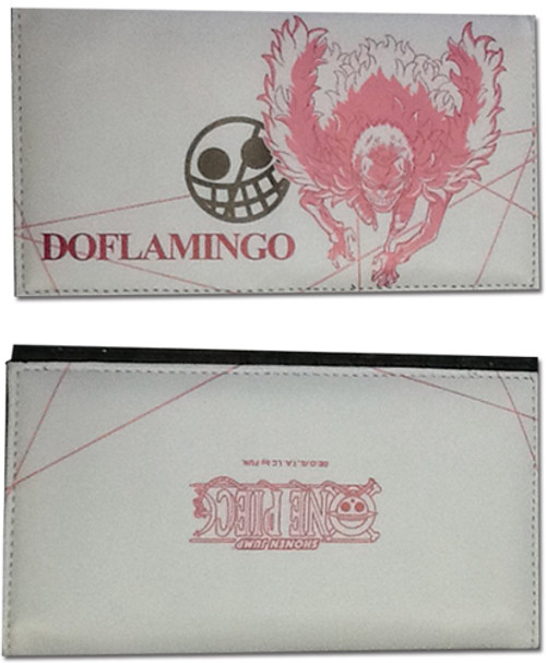 One Piece Doflamingo Pink and White Wallet
