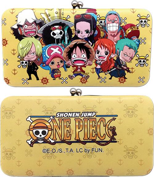 One Piece Chibi Straw Hat Pirates Hinge Wallet