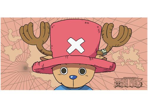 One Piece Chopper, With a Map Background Beach Towel